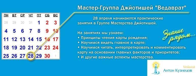 *** 'Группа Мастерства в Тантра-Джйотиш-е' — практические знания по Ведической астрологии, 2 сессия (диместр) ***